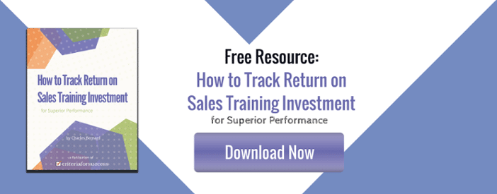 How to Track Return on Sales Training Investment