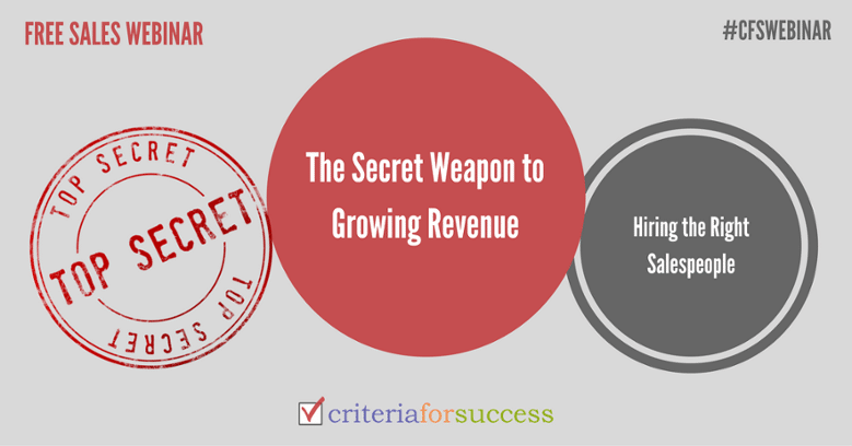 Complimentary Webinar: The Secret Weapon to Growing Revenue