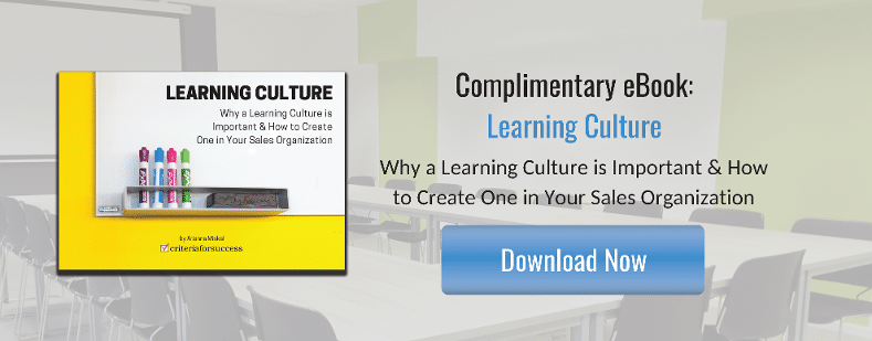 Complimentary Sales eBook - Learning Culture: Why a Learning Culture is Important & How to Create One in Your Sales Organization