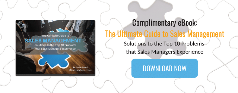 Complimentary eBook - The Ultimate Guide to Sales Management: Solutions to the Top 10 Problems that Sales Managers Experience