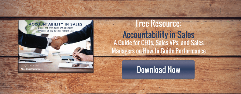 Free eBook: Accountability in Sales - A Guide for CEOs, Sales VPs, & Sales Managers on How to Guide Performance