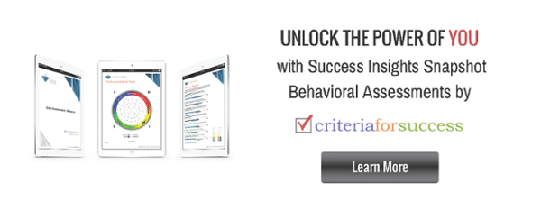 Success Insights Snapshot Behavioral Assessments by Criteria for Success